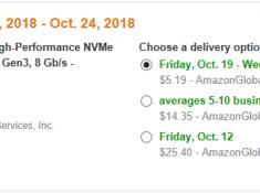 WD Black 1TBGB High-Performance NVMe PCIe M.2 2280 SSD $287.98 + $29.32