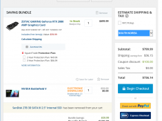 ZOTACGAMING GeForce RTX 2080 AMP + Battlefield V = $699.99